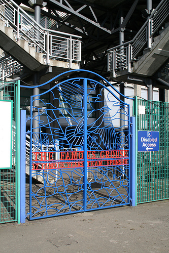 Famous Grouse Gates at Murrayfield